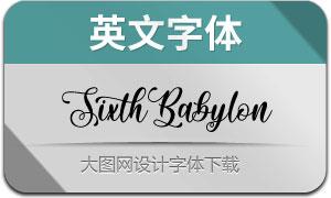 SixthBabylon(英文字体)