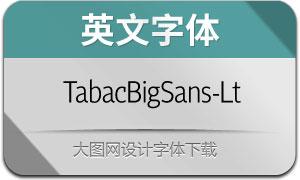 TabacBigSans-Light(英文字体)