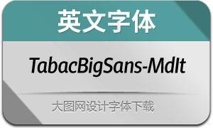 TabacBigSans-MediumIt(英文字体)