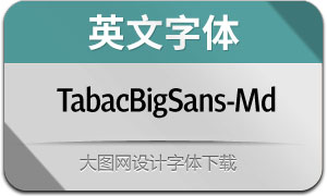 TabacBigSans-Medium(英文字体)