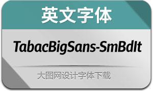 TabacBigSans-SemiBoldIt(英文字体)