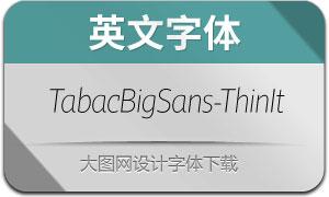 TabacBigSans-ThinItalic(英文字体)