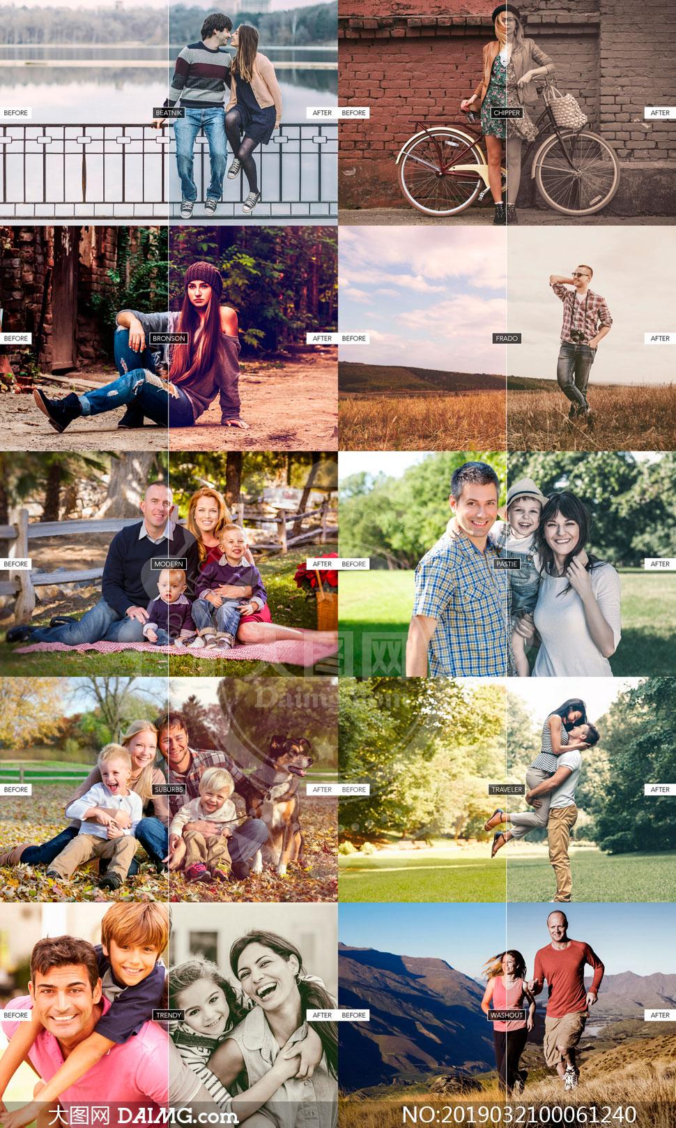 家庭照片后期复古效果LR预设V1