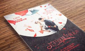 红色花瓣元素点缀影楼海报模板文件