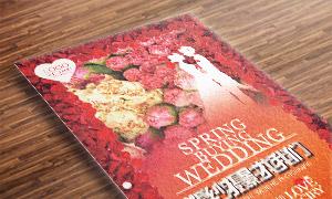 红色花朵边框样式影楼海报分层模板