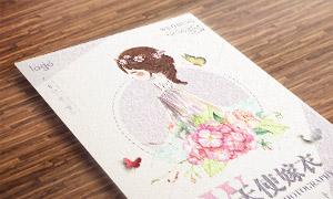 花朵与新娘插画等创意影楼海报模板