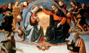 基尔兰达约名画圣母加冕主题高清图