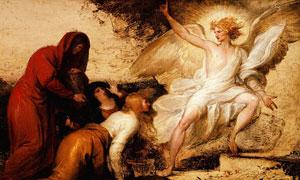 翅膀天使绘画创意作品设计高清图片