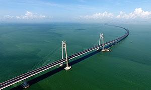 港珠澳大桥全景高清摄影图片