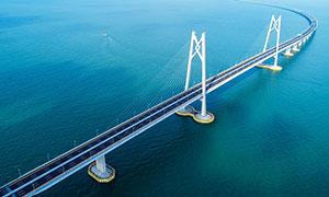 港珠澳大桥壮观景观摄影图片