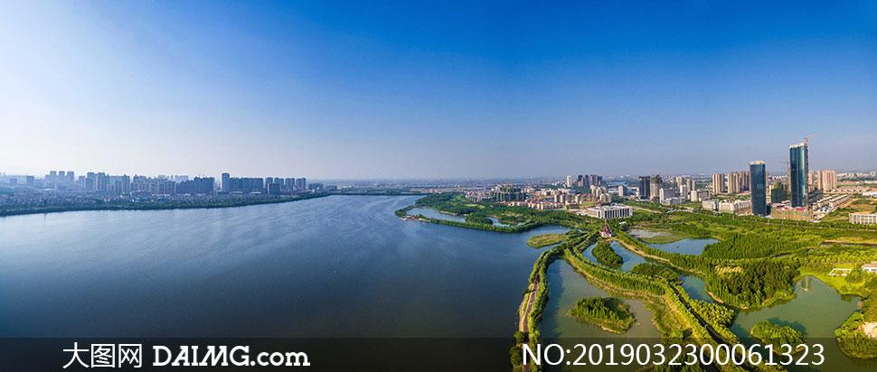 河边美丽的南昌美景摄影图片