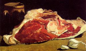 木桶与一块肉主题静物绘画 澳门线上必赢赌场