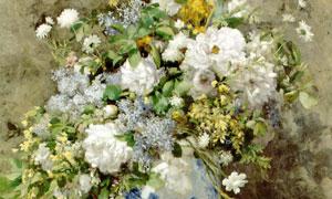 花瓶里的白色花朵主题绘画 澳门线上必赢赌场