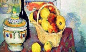 瓷器水果篮等静物绘画创意 澳门线上必赢赌场