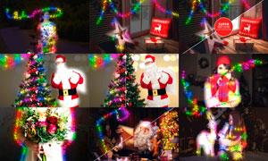 圣诞节彩灯装饰特效PS动作