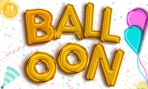 可爱的立体气球文字设计PS动作