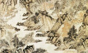 明代文伯仁的溪仙館圖繪畫高清圖片