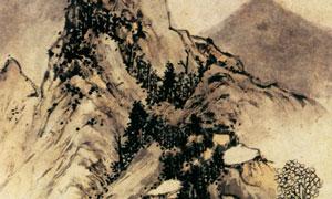 明代文嘉的设色山水图国画 澳门线上必赢赌场