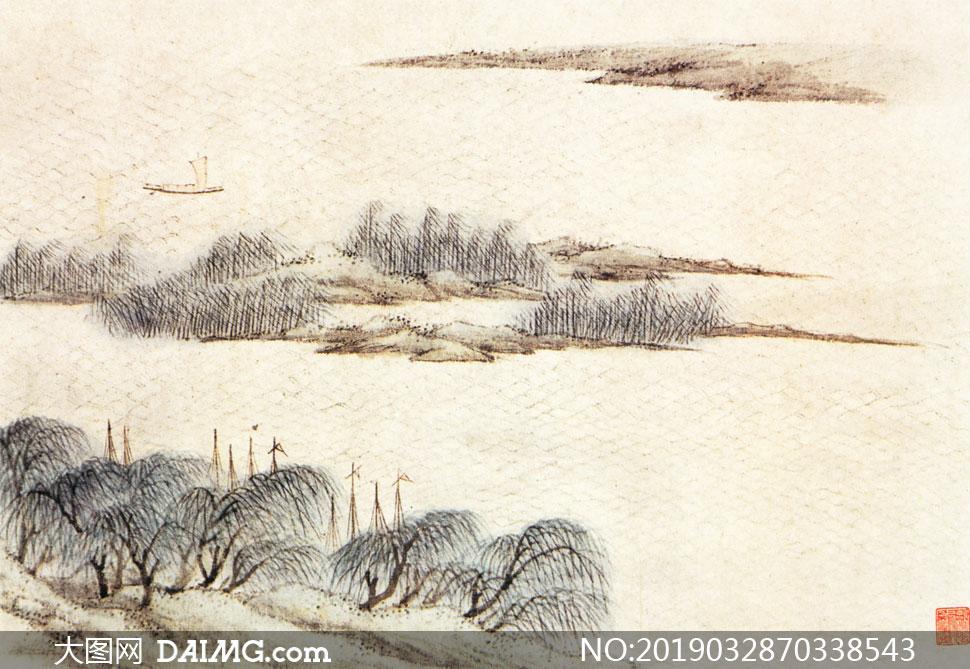郭存仁的金陵八景图之白鹭晴波作品