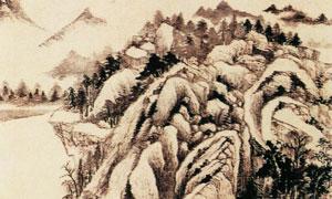 明代画家董其昌青弁图国画作品图片
