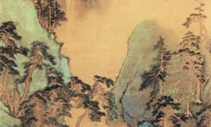 明代画家张宏的青绿山水图 澳门线上必赢赌场