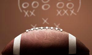球类运动中的橄榄球等特写高清图片