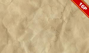 怀旧褶皱与污渍等效果纸张背景图片