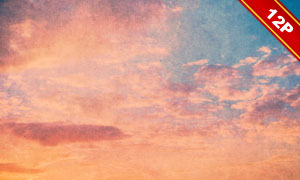 颓废效果天空云彩高光适用高清图片