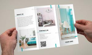三折页版式的宣传画册设计模板素材
