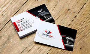 红黑配色汽车行业名片设计模板文件