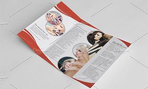 美容護膚服務折頁版式設計模板素材