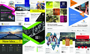 多種用途宣傳單頁設計模板素材V02