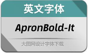 ApronBold-Italic(英文字体)