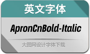 ApronCnBold-Italic(英文字体)
