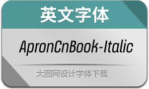 ApronCnBook-Italic(英文字体)