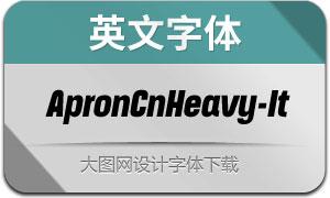 ApronCnHeavy-Italic(英文字体)