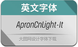 ApronCnLight-Italic(英文字体)