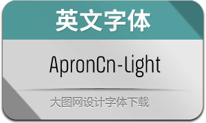 ApronCn-Light(英文字体)