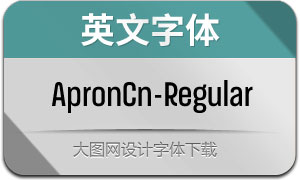 ApronCn-Regular(英文字体)
