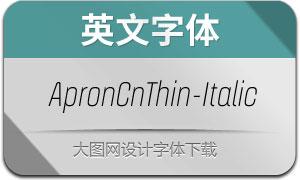 ApronCnThin-Italic(英文字体)