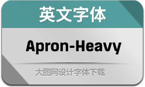 Apron-Heavy(英文字体)