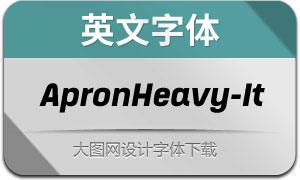 ApronHeavy-Italic(英文字体)