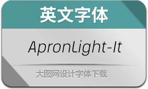 ApronLight-Italic(英文字体)