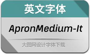 ApronMedium-Italic(英文字体)