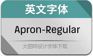 Apron-Regular(英文字体)