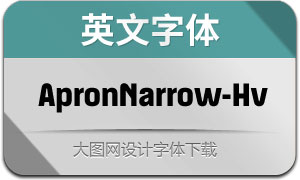 ApronNarrow-Heavy(英文字体)