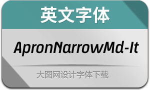 ApronNarrowMedium-It(英文字体)