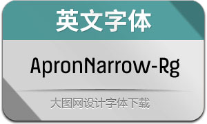 ApronNarrow-Regular(英文字体)