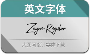 Zayne-Regular(英文字体)