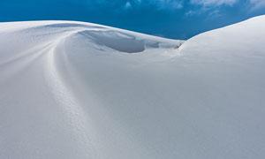 大雪后的晴天雪景风光摄影高清图片